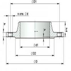 Фланец воротниковый сталь 10Х17Н13М2Т